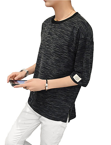 Men's Daily Plus Size Casual Street chic Summer T-shirt
