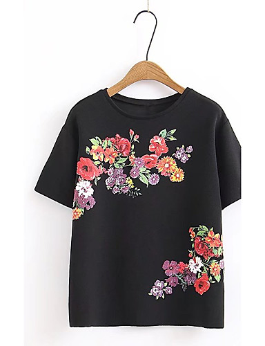 Women's Daily Holiday Going out Casual Sexy Street chic Spring Fall T-shirt