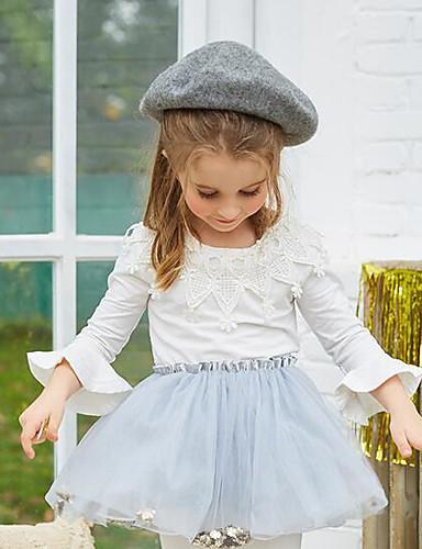 Girls' Solid Shirt,Cotton Spring Winter Long Pant