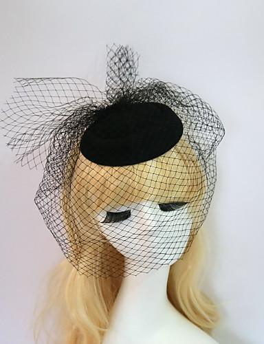 billige Hatte & Imponeringer-Harpiks / Bomull fascinators / Hatter med 1 Bryllup / Spesiell Leilighet / Halloween Hodeplagg