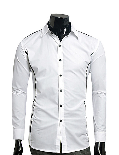 Men's Daily Plus Size Casual Active Summer Shirt,Solid Standing Collar Short Sleeves Cotton Thin