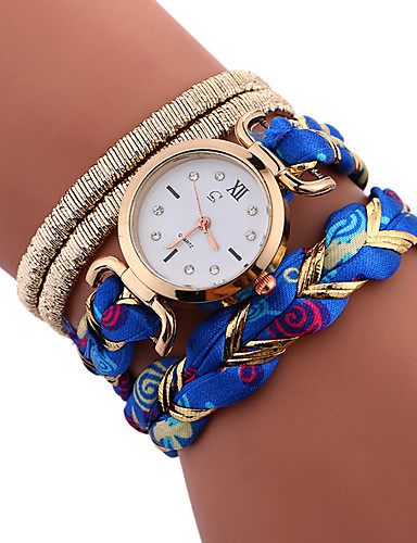 Women's Ladies Sport Watch Bracelet Watch Quartz Water Resistant / Water Proof Creative Stainless Steel Band Analog Charm Casual Fashion Black / White / Blue - Brown Red Blue