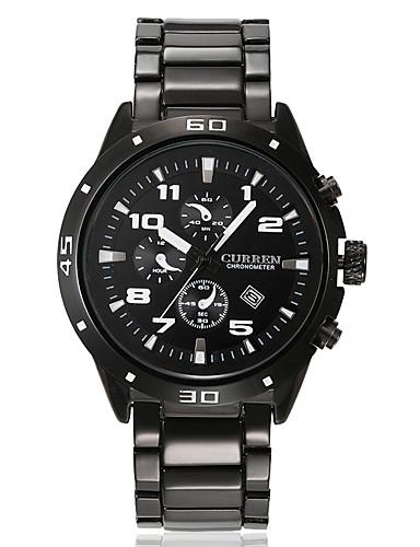 CURREN Homens Único Criativo relógio Relógio de Pulso Relógio de Moda Relógio Esportivo Relógio Casual Quartzo Calendário Aço Inoxidável