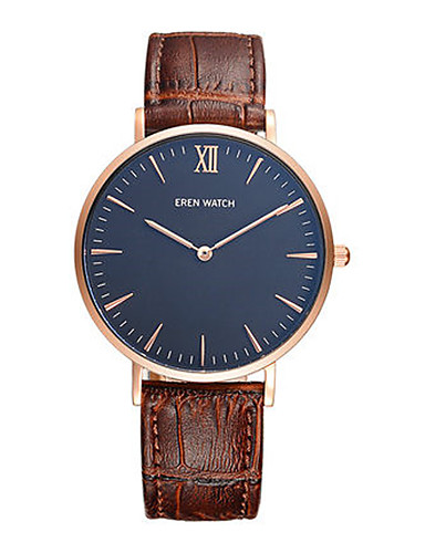 Men's Fashion Watch Japanese Quartz Water Resistant / Water Proof Leather Band Black Brown