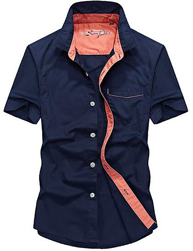 Men's Casual Shirt - Solid Colored