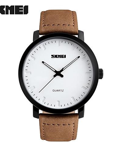 SKMEI Men's Wrist Watch Hot Sale Genuine Leather Band Charm / Fashion Brown