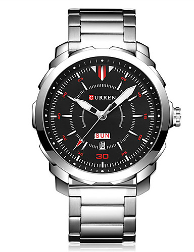 Men's Sport Watch Wrist Watch Quartz 30 m Water Resistant / Water Proof Calendar / date / day Creative Metal Band Analog Charm Fashion Dress Watch Multi-Colored - LightBlue Blue Black / White Two