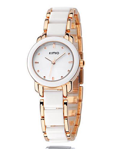 Women's Fashion Watch Quartz Alloy Band Silver Pink