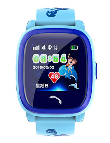 Men's Smart Watch Digital Silicone Band Blue Purple