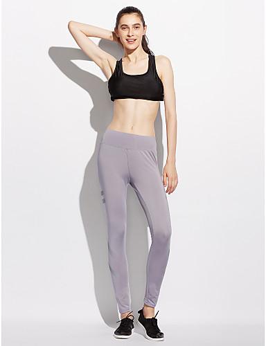 Naisten Aktiivinen strenchy Skinny Aktiivinen Housut, Keski vyötärö Polyesteri Spandex Yhtenäinen Geometrinen Kaikki vuodenajat