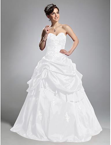 abordables robe grande taille-Robe de Soirée Coeur Longueur Sol Taffetas Soirée Formel Robe avec Jupe par TS Couture®