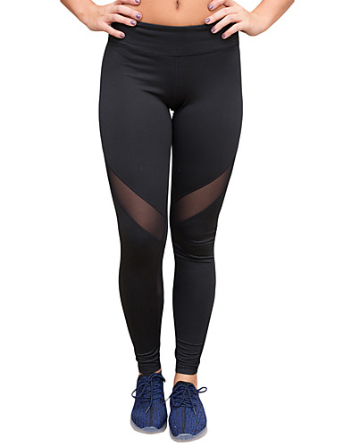 Dame Solid Ensfarget Tights