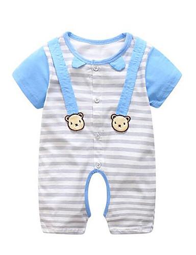 Baby Einzelteil Streifen Baumwolle Sommer Blau Gelb