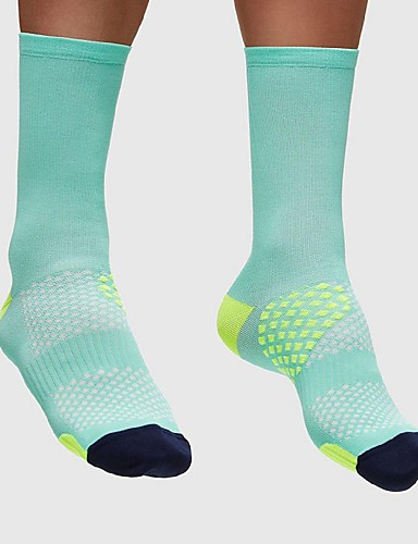 cheap Cycling Clothing-Compression Socks Sport Socks / Athletic Socks Cycling Socks Men's Women's Cycling / Bike Running Bike / Cycling Lightweight Anatomic Design Breathability 1 Pair Nylon Spandex Light Green Black