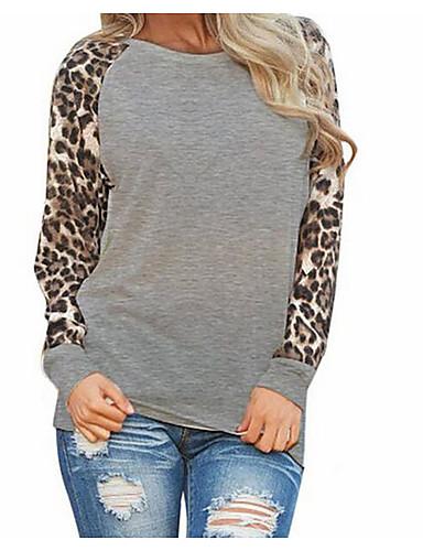 Damen Solide Freizeit Alltag Wochenende Bluse, Rundhalsausschnitt Sommer Langarm Polyester