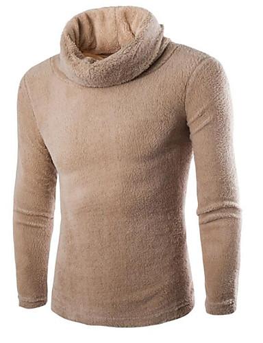 Herrn Solide Alltag Ausgehen Street Schick Pullover Langarm Rollkragen Winter Herbst Baumwolle Elasthan