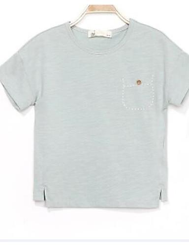 Jungen T-Shirt Druck einfarbig Baumwolle Sommer Kurzarm Normal