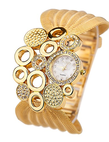 Women's Wrist Watch Japanese Quartz 30 m Imitation Diamond Alloy Band Analog Casual Fashion Silver / Gold - Silver Golden One Year Battery Life