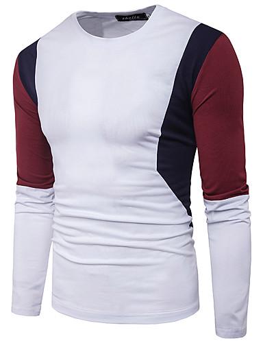 Herrn Einfarbig T-shirt, Rundhalsausschnitt Baumwolle