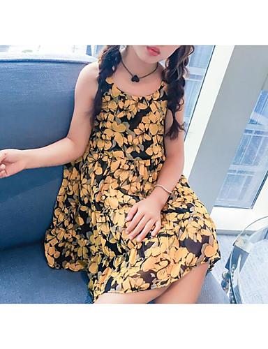 Mädchen Kleid einfarbig Kurzarm