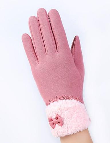 Damen Allzweck-Arbeitshandschuhe Winter Wolle Ellenbogen Länge Fingerspitzen,Jacquard