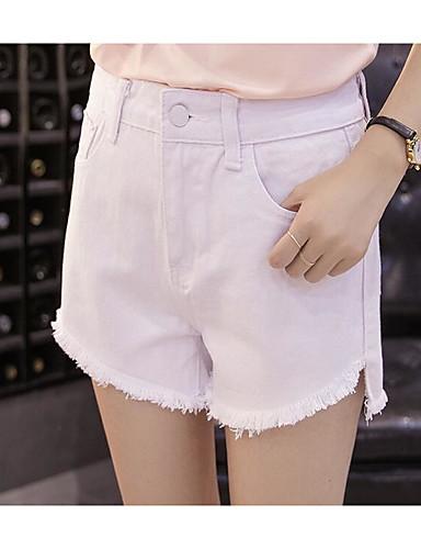 Damen Niedlich Einfach Mittlere Hüfthöhe Mikro-elastisch Jeans Schlank Hose Solide