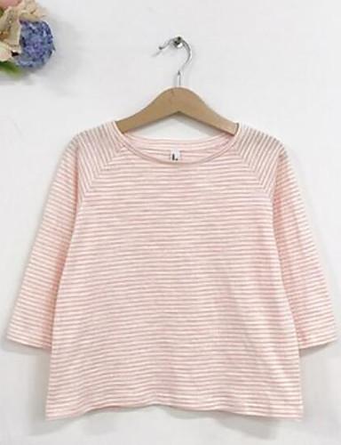 Mädchen T-Shirt Streifen Baumwolle Frühling