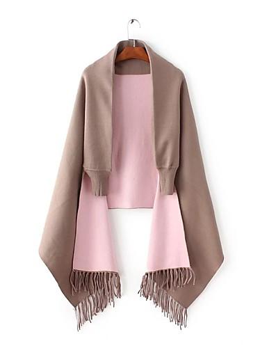 Damen Standard Strickjacke-Ausgehen Lässig/Alltäglich Einfach Solide Einfarbig V-Ausschnitt Ärmellos Wolle Baumwolle Frühling Herbst Dünn