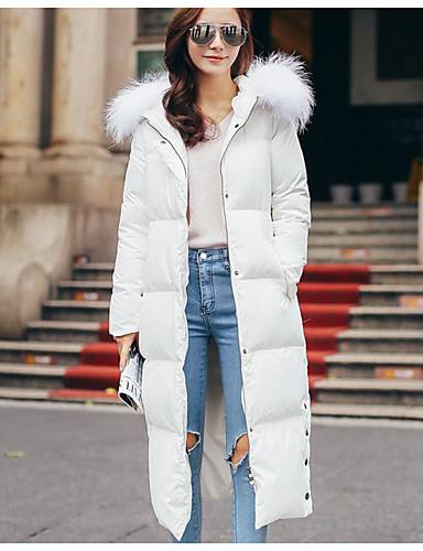 Damen Baumwolle Ausgehen Aktiv Daunenjacke - Druck, Solide Gestreift
