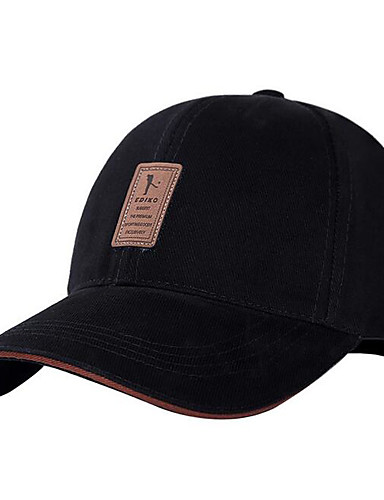 قبعة البيسبول سادة قطن, قبعة للرجال