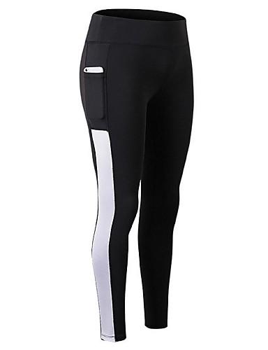 Femme Mosaïque Collants de Course Running Leggings de Sport Bleu Noir    Blanc noir   vert Des sports Elasthanne Collants Yoga Fitness Entraînement  de gym ... 750ceb26685