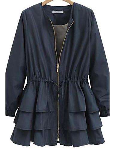 Damen - Solide Übergrössen Trench Coat