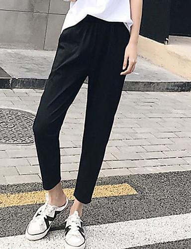 Damen Punk & Gothic Street Schick Hohe Hüfthöhe Eng Haremshosen Hose Solide