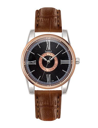 Herrn Quartz Armbanduhr Schlussverkauf Leder Band Freizeit Modisch Schwarz Weiß
