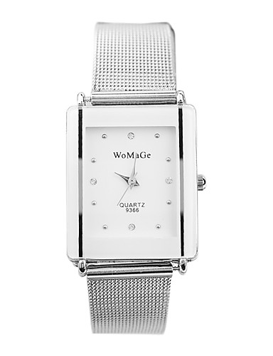 Women's Wrist Watch Quartz 30 m Large Dial Silicone Band Analog Casual Fashion Silver - Black Pearl