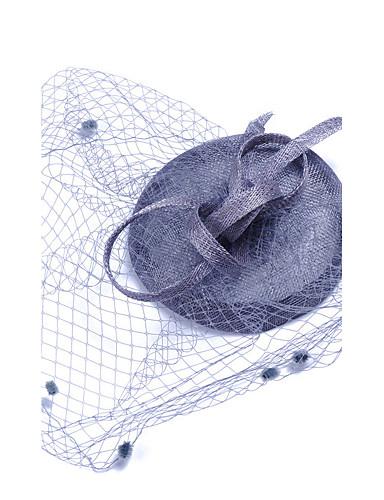 abordables Chapeau & coiffure-Pierre Précieuse & Cristal / Tulle / Tissu Fascinators / Casque avec Cristal / Plume 1 Mariage / Occasion spéciale / Anniversaire Casque