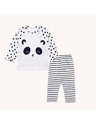 Baby Kinder Lässig/Alltäglich Geometrisch Kleidungs Set Frühling/Herbst