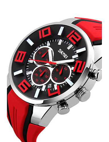 Men's Sport Watch / Smartwatch / Wrist Watch Chinese Calendar / date / day / Water Resistant / Water Proof / Creative Silicone Band Charm / Fashion / Dress Watch Multi-Colored / Large Dial