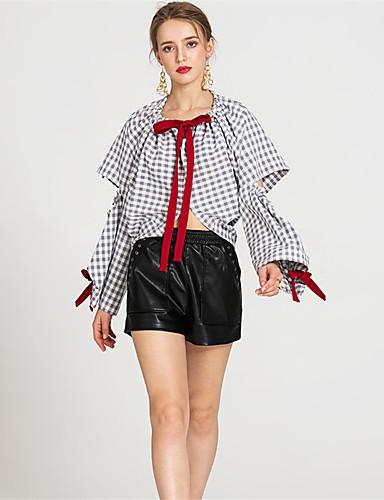 Damen Einfach Mittlere Hüfthöhe Mikro-elastisch Kurze Hosen Lose Hose Solide