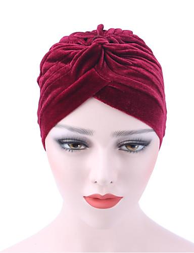 Női Egyszínű Tiszta szín / Nyomtatott Pamut, Kalap - Széles karimájú kalap / Tél