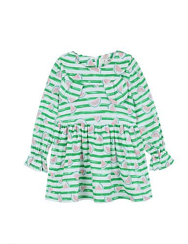Mädchen Kleid Druck Baumwolle Herbst Lange Ärmel