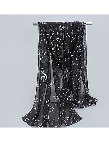 女性用 コットン, ジャカード 長方形スカーフ