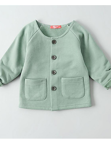 Mädchen Bluse einfarbig Baumwolle Frühling