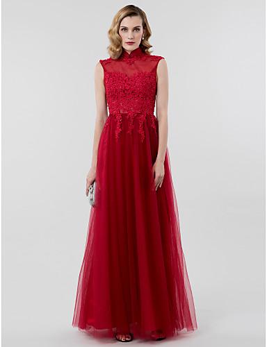 89ea663907 play video. cheap Evening Dresses-Ball Gown High Neck Floor Length ...