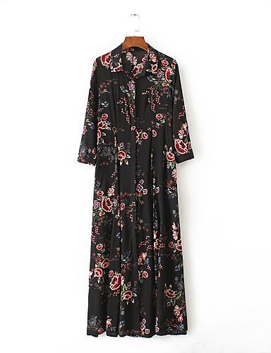 10db22599ee9 Γυναικείο Καθημερινά Εξόδου Βίντατζ Κομψό στυλ street Φαρδιά Πουκάμισο  Φόρεμα