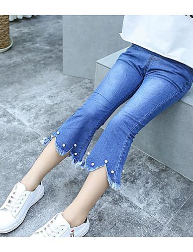 Mädchen Hose Einheitliche Farbe Baumwolle Sommer