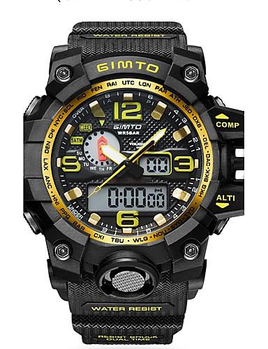 Herrn Quartz digital Digitaluhr Armbanduhr Militäruhr Sportuhr Chinesisch Kalender Wasserdicht Silikon Band Luxus Retro Kreativ Freizeit