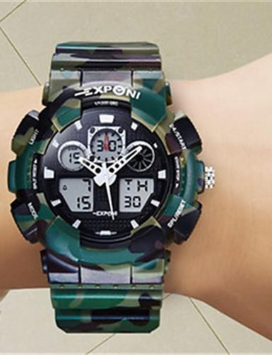 Herrn Smart Uhr digital Wasserdicht Nachts leuchtend Caucho Band Weiß Blau Grün
