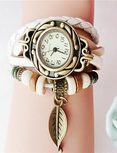 voordelige Armband Horloge-Dames Armbandhorloge Kwarts Zwart / Wit / Blauw Hot Sale Analoog Dames Amulet Modieus - Oranje Rood Blauw