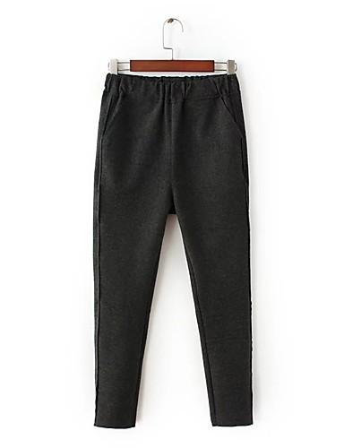 Damen Street Schick Mittlere Hüfthöhe Mikro-elastisch Gerade Jeans Hose,Andere Ganzjährig Solide
